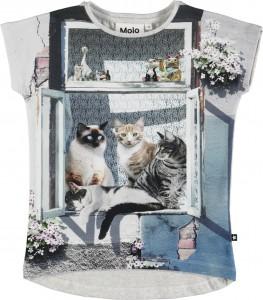 Molo Mädchen T-Shirt Ragnhilde City Cats
