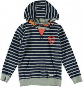 RETOUR Kapuzen-Sweat-Pullover ALONSO-B Streifen blue/grey