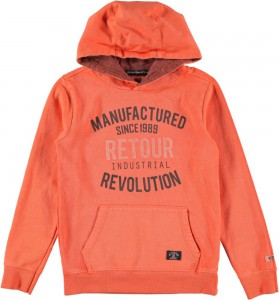 RETOUR Kapuzen-Sweat-Pullover GEORGINO-B soft orange