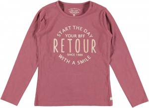 RETOUR Langarm-Shirt/Longsleeve PEMME marsala