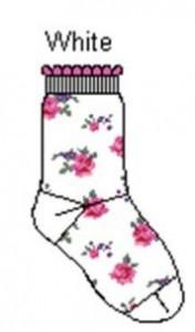 Bonnie Doon Baby Socken Roses weiss-pink