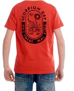 Scorpion Bay T-Shirt rot mit Rücken-Print