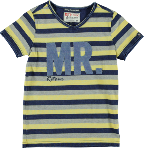 RETOUR T-Shirt STORM-A Streifen dark yellow/grey mel/ indigo blue