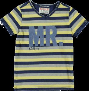 RETOUR T-Shirt STORM-A Streifen dark yellow/grey mel/ indigo blue