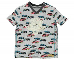 Moodstreet Mini Boys T-Shirt Autos grey