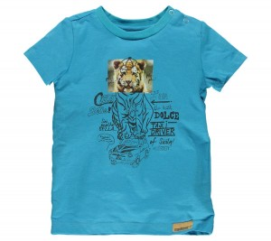 Moodstreet Mini Boys T-Shirt Tiger bright blue