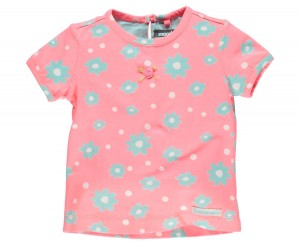 Moodstreet Mini Girls T-Shirt Blumen bright peach