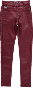RETOUR Lederimitat-Jegging TEMBER dark red
