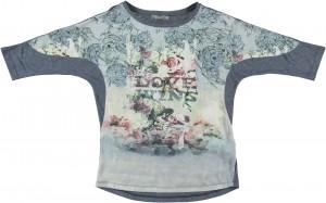 Geisha Langarm-Shirt/Longsleeve blau
