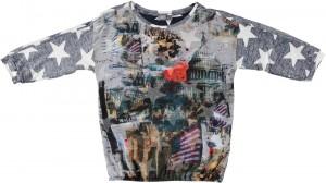 Geisha Longsleeve/Langarm-Shirt große Sterne multicolor