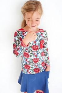 Mim-Pi Langarm-Shirt/Longsleeve UBoot-Ausschnitt rot-weiß-blau