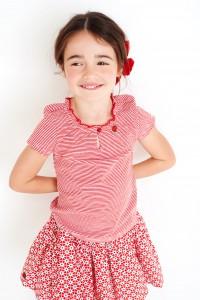 Mim-Pi T-Shirt Streifen rot-weiß