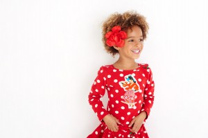 Mim-Pi Langarm-Shirt/Longsleeve Flamenco-Tänzerin Punkte rot-weiß