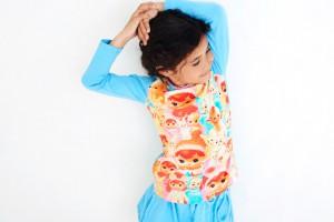 Mim-Pi Langarm-Shirt/Longsleeve Püppchen puderblau