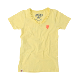 Vingino Basic T-Shirt V-Neck HIDDE ice gelb