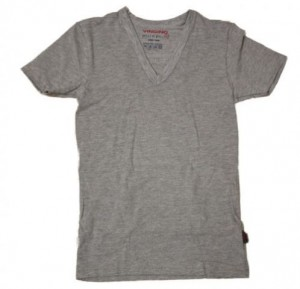 Vingino Basic-T-Shirt V-NECK grau