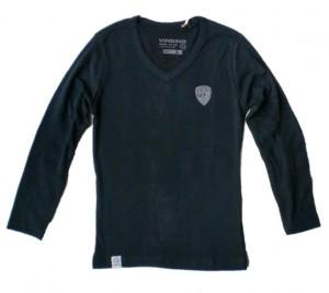 Vingino Langarm-Shirt/Longsleeve V-Neck KENIA black