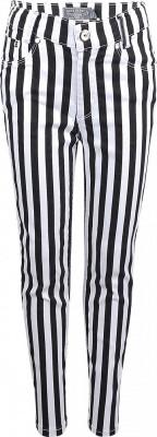 Blue Effect Mädchen High-Waist Hose cropped Streifen schwarz weiß NORMAL