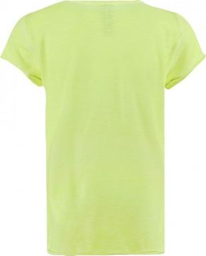 Blue Effect Mädchen T-Shirt Pailletten-STERN neongelb