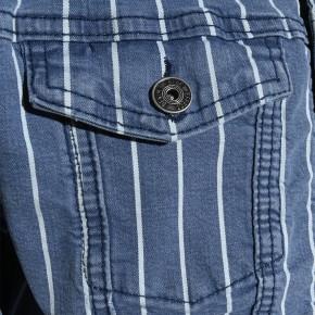 Blue Effect Mädchen Cropped Jeans-Jacke Streifen light blue