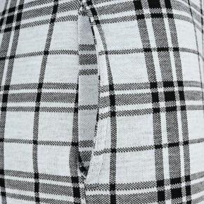 Blue Effect Mädchen Langarm-Kleid Oohlala Sweat-Kleid Karo grau schwarz