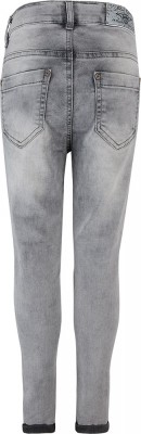 Blue Effect Mädchen cropped High-Waist Jeans medium grey NORMAL