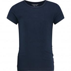 Vingino Basic-T-Shirt Girls Rundhals-Ausschnitt dunkelblau
