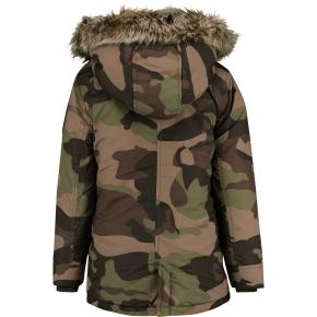 Vingino Winter-Jacke/Winter-Mantel mit Kapuze THIBAUT camouflage green 128 - 8y
